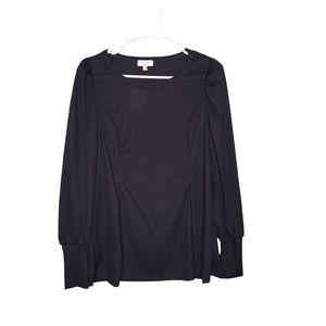 Status by Chenault Women's Black Pullover Sweater
